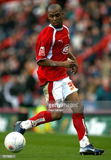 Darren Byfield of Bristol City during the FA Cup Sponsored by eon Third Round match between Bristol City and Middlesbrough held at Ashton Gate on...