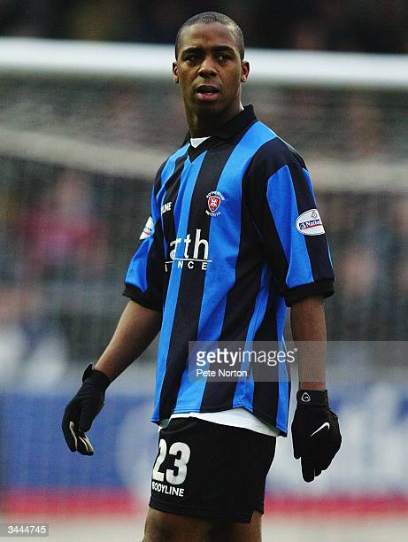 Darren Byfield of Rotherham United in action during the FA Cup third round match between Northampton Town and Rotherham United held on January 3 2004...