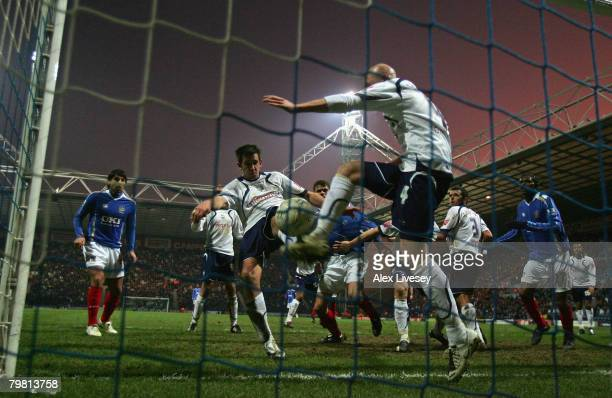 Darren Carter of Preston North End puts the ball into his own net to give Portsmouth the winning goal during the FA Cup sponsored by EON Fifth Round...