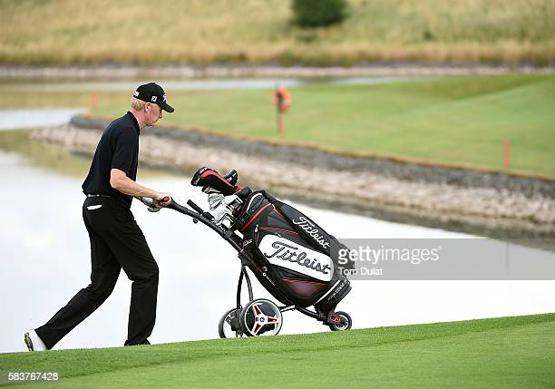 Darren Charlton of Dunstable Downs Golf Club during day two of the PGA Professional Championship at The Oxfordshire Golf Club on July 27 2016 in...