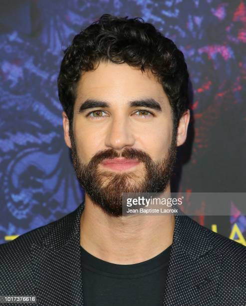 Darren Chris attends a panel and photo call for FX's 'The Assassination Of Gianni Versace American Crime Story' on August 15 2018 in Los Angeles...