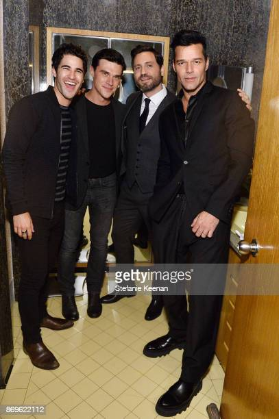 Darren Chris Finn Wittrock Edgar Ramirez and Ricky Martin attend GQ Style Hugo Boss celebrate Amazing Spaces with Edgar Ramirez at John Lautner's...