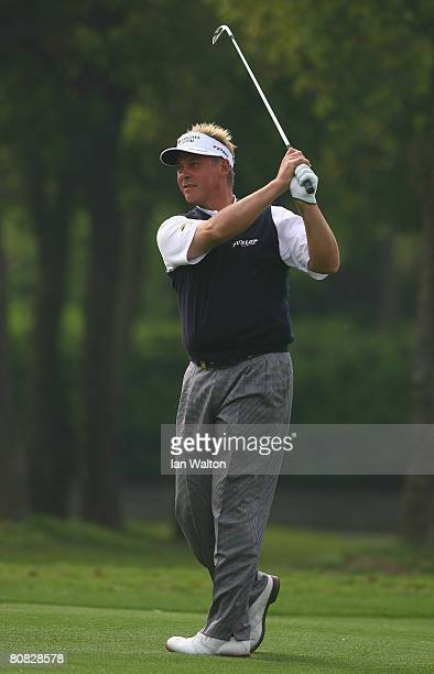 Darren Clarke of Northern Ireland in action during the Pro-Am round of the BMW Asian Open at the Tomson Shanghai Pudong Golf Club on April 23, 2008...