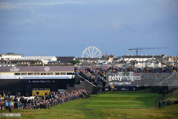 Darren Clarke of the Northern Ireland hits the opening tee shot of the chapionship during the first round of the 148th Open Championship held on the...