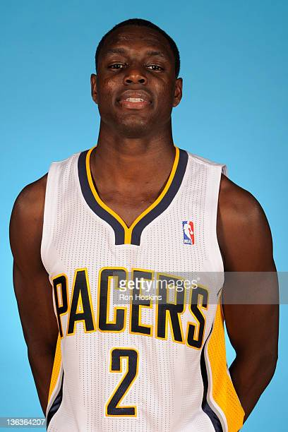 Darren Collison of the Indiana Pacers poses for a photo during the media day on December 14 2011 at Conseco Fieldhouse in Indianapolis Indiana NOTE...