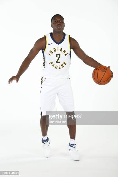 Darren Collison of the Indiana Pacers poses for a portrait during the Pacers Media Day at Bankers Life Fieldhouse on September 25 2017 in...