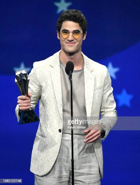 Darren Criss accepts the Best Actor in a Limited Series or Movie Made for Television award for 'The Assassination of Gianni Versace: American Crime...