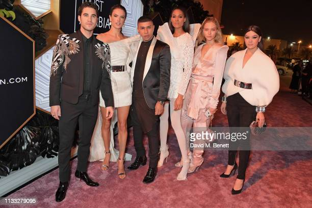 Darren Criss Alessandra Ambrosio Olivier Rousteing Cindy Bruna Sasha Luss and Hailee Steinfeld attend the Fashion Trust Arabia Prize awards ceremony...