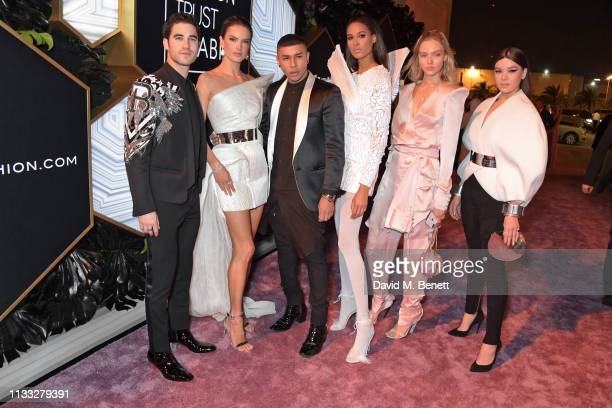 Darren Criss Alessandra Ambrosio Olivier Rousteing Cindy Bruna Sasha Luss and Hailee Steinfeld attend the Fashion Trust Arabia Prize awards ceremony...