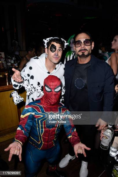 Darren Criss and Eric Podwall attend Podwall Entertainment's 10th Annual Halloween Party presented by Maker's Mark on October 31 2019 in West...
