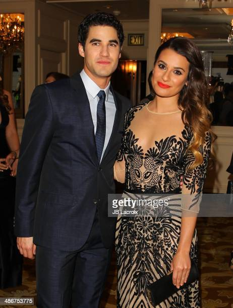 Darren Criss and Lea Michele attend the 19th Annual Jonsson Cancer Center Foundation's Taste For A Cure on April 25 2014 in Beverly Hills California