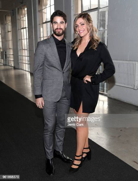 Darren Criss and Mia Swier attend Gaggenau's Pop Up Restaurant 1693 Honoring Operation Smile on May 22 2018 in Los Angeles California