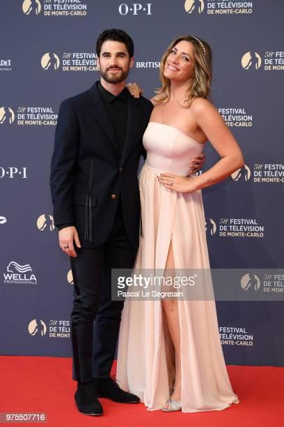 Darren Criss and Mia Swier attend the opening ceremony of the 58th Monte Carlo TV Festival on June 15 2018 in MonteCarlo Monaco