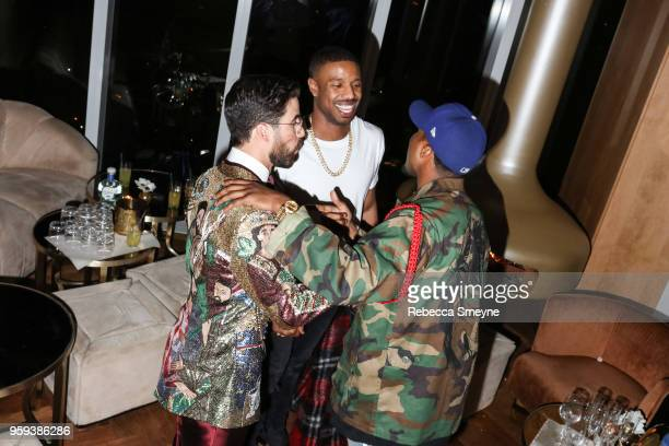 Darren Criss and Michael B Jordan attend the Boom Boom Afterparty for the Met Gala at the Top of the Standard on May 8 2018 in New York New York