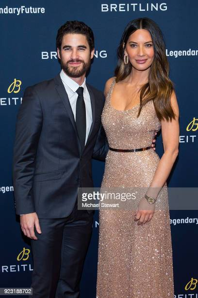 Darren Criss and Olivia Munn attend Breitling Celebrates The North American Stopover of its Global Roadshow at Duggal Greenhouse on February 22 2018...