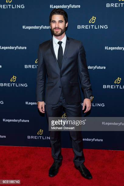 Darren Criss attends Breitling Celebrates The North American Stopover of its Global Roadshow at Duggal Greenhouse on February 22 2018 in the Brooklyn...