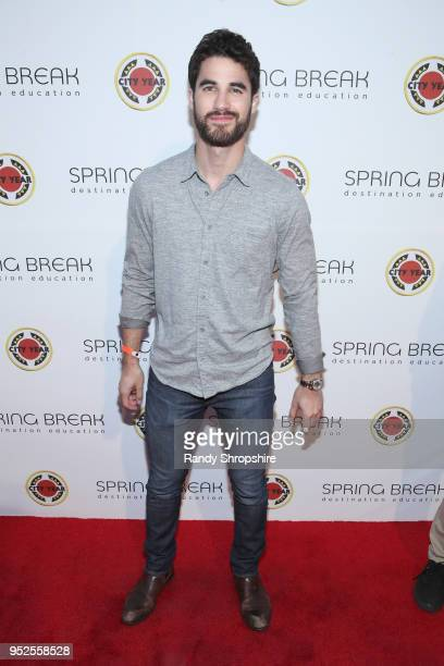 Darren Criss attends City Year Los Angeles' Spring Break Destination Education at Sony Studios on April 28 2018 in Los Angeles California