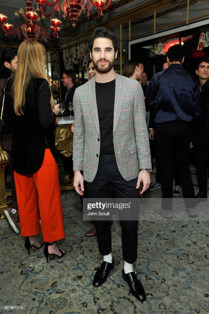 Darren Criss attends GQ and Oliver Peoples Celebrate Timothee Chalamet March Cover Dinner at Nomad Los Angeles on February 20, 2018 in Los Angeles, California.