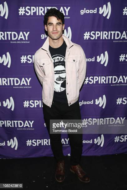 Darren Criss attends Justin Tranter And GLAAD Present 'BEYOND' Spirit Day Concert at The Sayers Club on October 17 2018 in Hollywood California