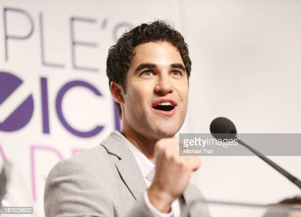 Darren Criss attends the 2014 People's Choice Awards nominations announcement held at The Paley Center for Media on November 5 2013 in Beverly Hills...