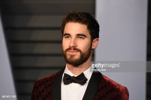 Darren Criss attends the 2018 Vanity Fair Oscar Party Hosted By Radhika Jones Arrivals at Wallis Annenberg Center for the Performing Arts on March 4...