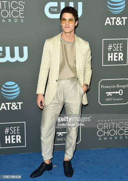 Darren Criss attends the 24th annual Critics' Choice Awards at Barker Hangar on January 13, 2019 in Santa Monica, California.