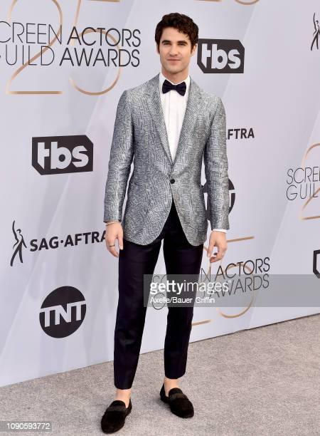 Darren Criss attends the 25th Annual Screen Actors Guild Awards at The Shrine Auditorium on January 27 2019 in Los Angeles California