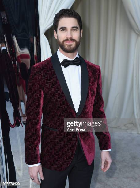 Darren Criss attends the 26th annual Elton John AIDS Foundation Academy Awards Viewing Party with cocktails by Clase Azul Tequila at The City of West...