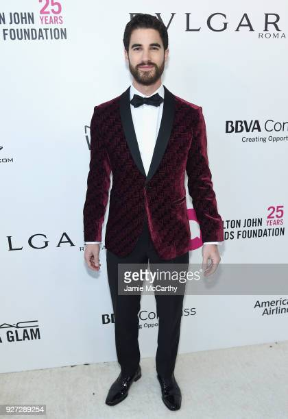 Darren Criss attends the 26th annual Elton John AIDS Foundation Academy Awards Viewing Party sponsored by Bulgari celebrating EJAF and the 90th...