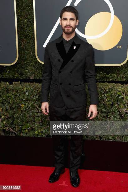Darren Criss attends The 75th Annual Golden Globe Awards at The Beverly Hilton Hotel on January 7 2018 in Beverly Hills California