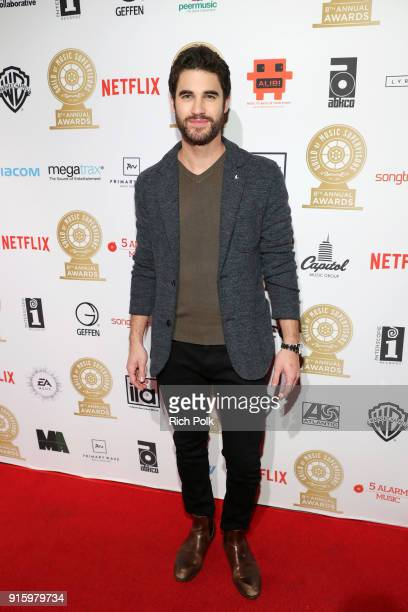 Darren Criss attends the 8th Annual Guild of Music Supervisors Awards at The Theatre at Ace Hotel on February 8 2018 in Los Angeles California