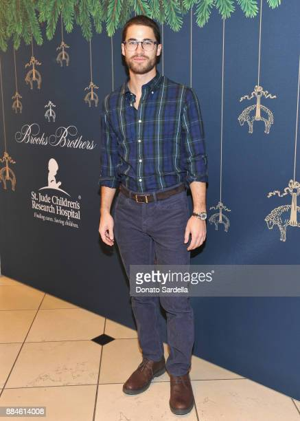 Darren Criss attends the Brooks Brothers holiday celebration with St Jude Children's Research Hospital at Brooks Brothers Rodeo on December 2 2017 in...