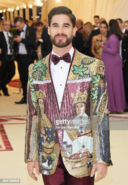 Darren Criss attends the Heavenly Bodies Fashion The Catholic Imagination Costume Institute Gala at The Metropolitan Museum of Art on May 7 2018 in...