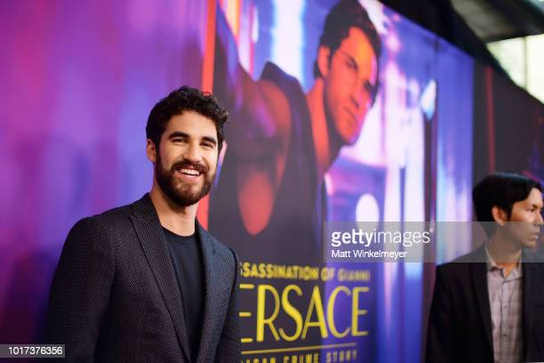 Darren Criss attends the panel and photo call for FX's The Assassination of Gianni Versace American Crime Story at Los Angeles County Museum of Art...