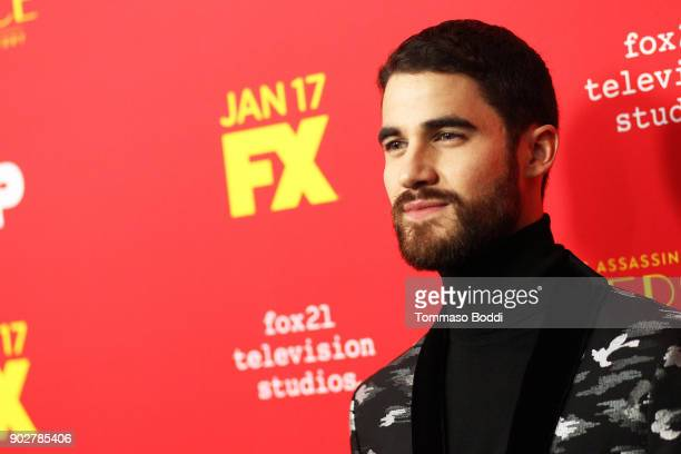 Darren Criss attends the Premiere Of FX's 'The Assassination Of Gianni Versace American Crime Story' at ArcLight Hollywood on January 8 2018 in...