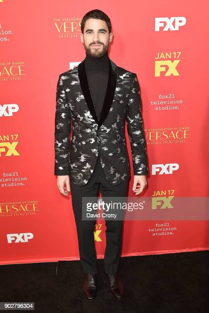 Darren Criss attends the Premiere Of FX's 'The Assassination Of Gianni Versace American Crime Story' Arrivals at ArcLight Hollywood on January 8 2018...