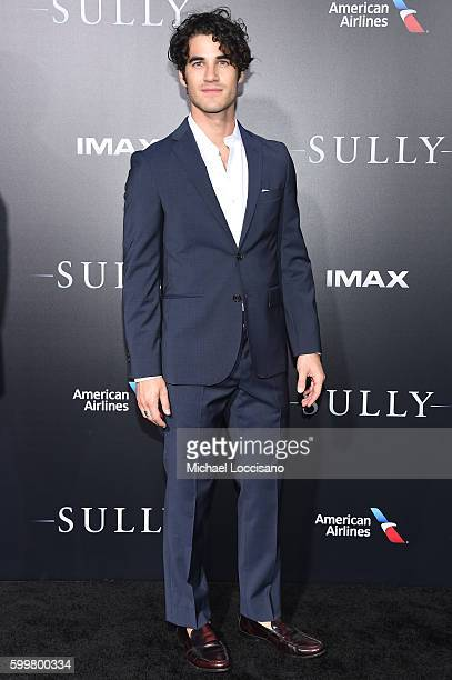 Darren Criss attends the 'Sully' New York Premiere at Alice Tully Hall on September 6 2016 in New York City