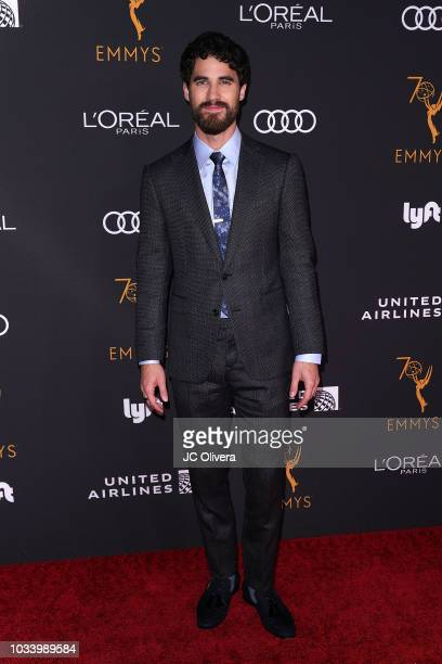 Darren Criss attends the Television Academy Honors Emmy Nominated Performers at Wallis Annenberg Center for the Performing Arts on September 15 2018...