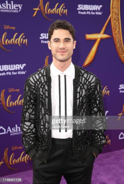 Darren Criss attends the World Premiere of Disney's Aladdin at the El Capitan Theater in Hollywood CA on May 21 in the culmination of the film's...