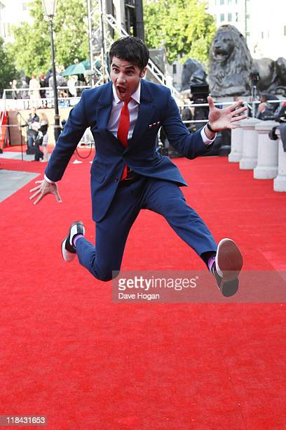 Darren Criss attends the world premiere of Harry Potter and the Deathly Hallows Part 2 at Trafalgar Square on July 7 2011 in London England