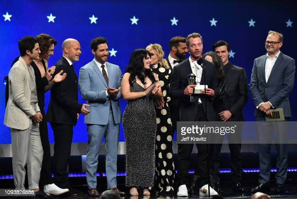 Darren Criss Cody Fern Daniel Minahan Alexis Martin Woodall Tom Rob Smith Ricky Martin Nina Jacobson Finn Wittrock and Brad Simpson at The 24th...