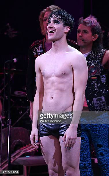 Darren Criss during his debut Curtain Call for 'Hedwig and the Angry Inch' at the Belasco Theatre on April 29 2015 in New York City