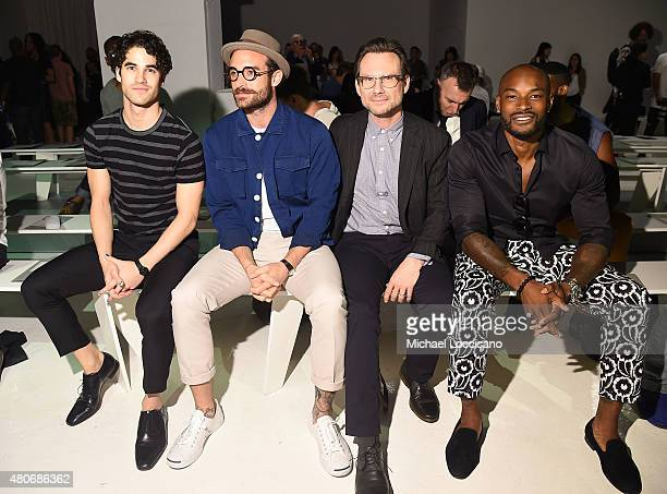 Darren Criss Joshua Sasse Tyson Beckford and Christian Slater attend the Todd Snyder fashion show during New York Fashion Week Men's S/S 2016 at...