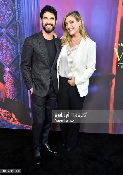 "Darren Criss, Mia Swier attend Panel And Photo Call For FX's ""The Assassination Of Gianni Versace: American Crime Story"" at Los Angeles County Museum..."