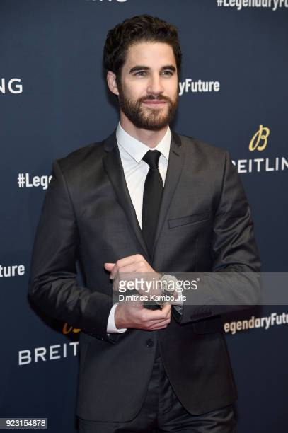 Darren Criss on the red carpet at the '#LEGENDARYFUTURE' Roadshow 2018 New York on February 22 2018