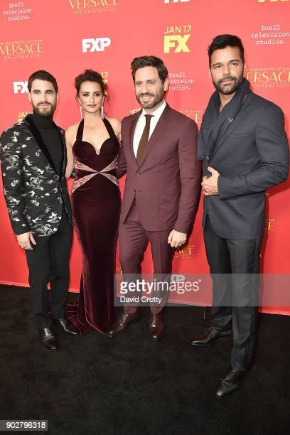 Darren Criss Penelope Cruz Edgar Ramirez and Ricky Martin attend the Premiere Of FX's 'The Assassination Of Gianni Versace American Crime Story'...