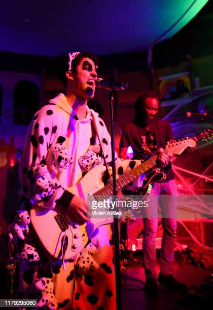 Darren Criss performs at Podwall Entertainment's 10th Annual Halloween Party presented by Maker's Mark on October 31 2019 in West Hollywood California