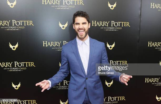 Darren Criss poses at 'Harry Potter and The Cursed Child parts 1 2' on Broadway opening night at The Lyric Theatre on April 22 2018 in New York City