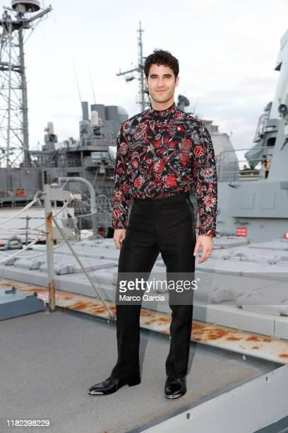 Darren Criss stands aboard the USS Halsey on October 20, 2019 in Honolulu, Hawaii.