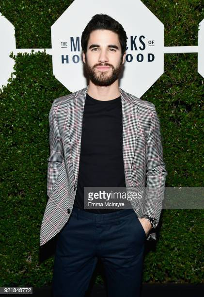 Darren Criss wearing Hugo Boss attends Esquire's 'Mavericks of Hollywood' Celebration presented by Hugo Boss on February 20 2018 in Los Angeles...